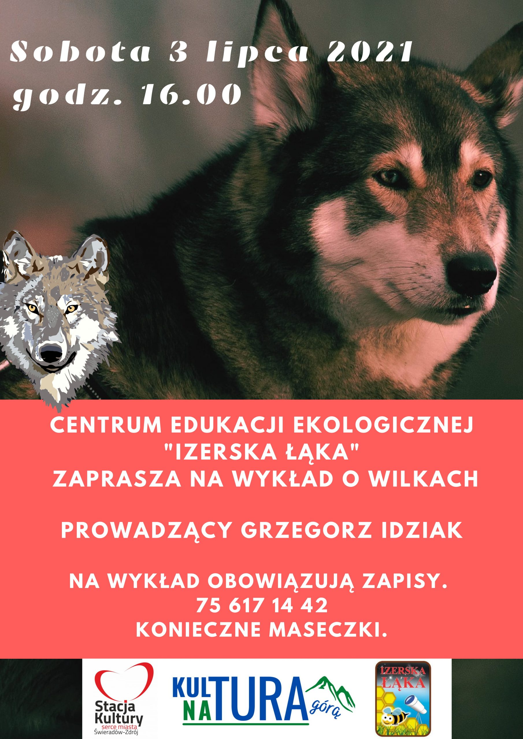Wykład o wilkach juz 3 lipca